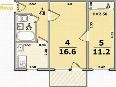 Планируется перепланировка двухкомнатной квартиры? Тогда